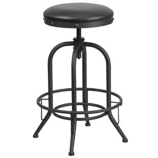 Karyl Adjustable Height Swivel Bar Stool ..