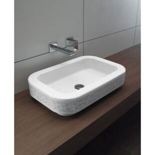 Read Reviews Traccia Ceramic Rectangular Drop-In Bathroom Sink By GSI Collection