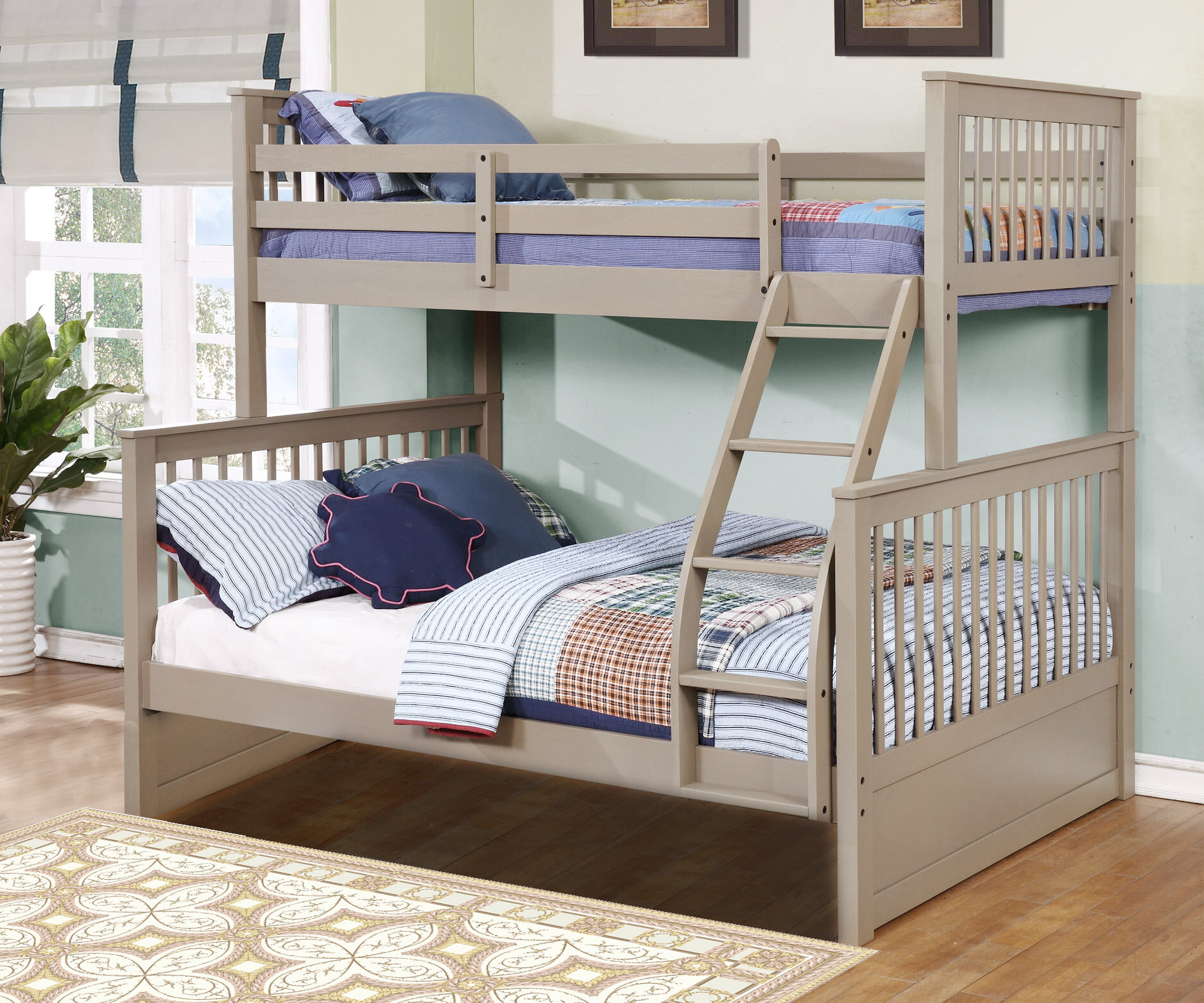 Wildon Home Paloma Mission Twin Over Full Bunk Bed Reviews Wayfair