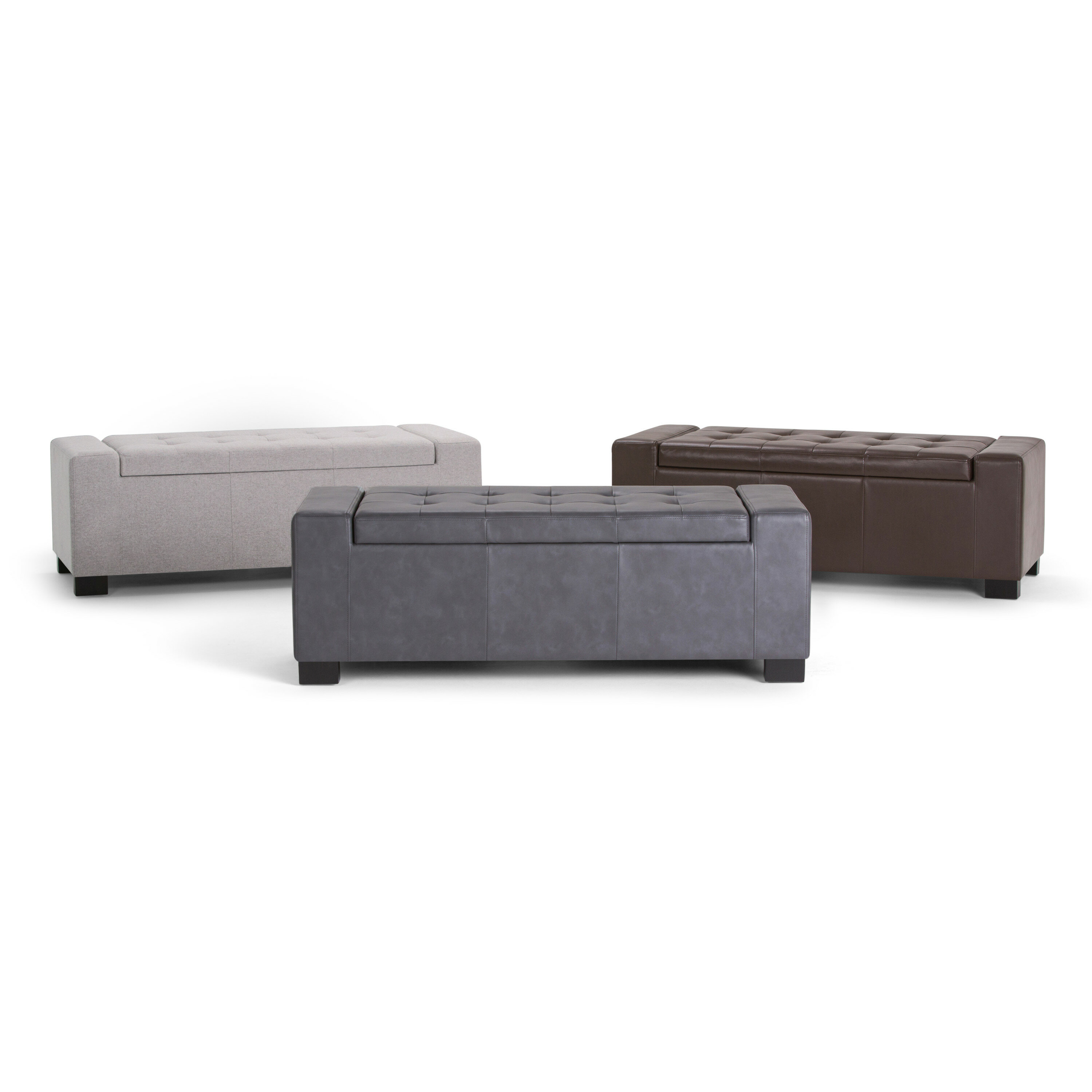 Fine Asdsit Upholstered Storage Ottoman Ocoug Best Dining Table And Chair Ideas Images Ocougorg