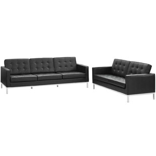 Gayatri 2 Piece Leather Living Room Set by Orren Ellis