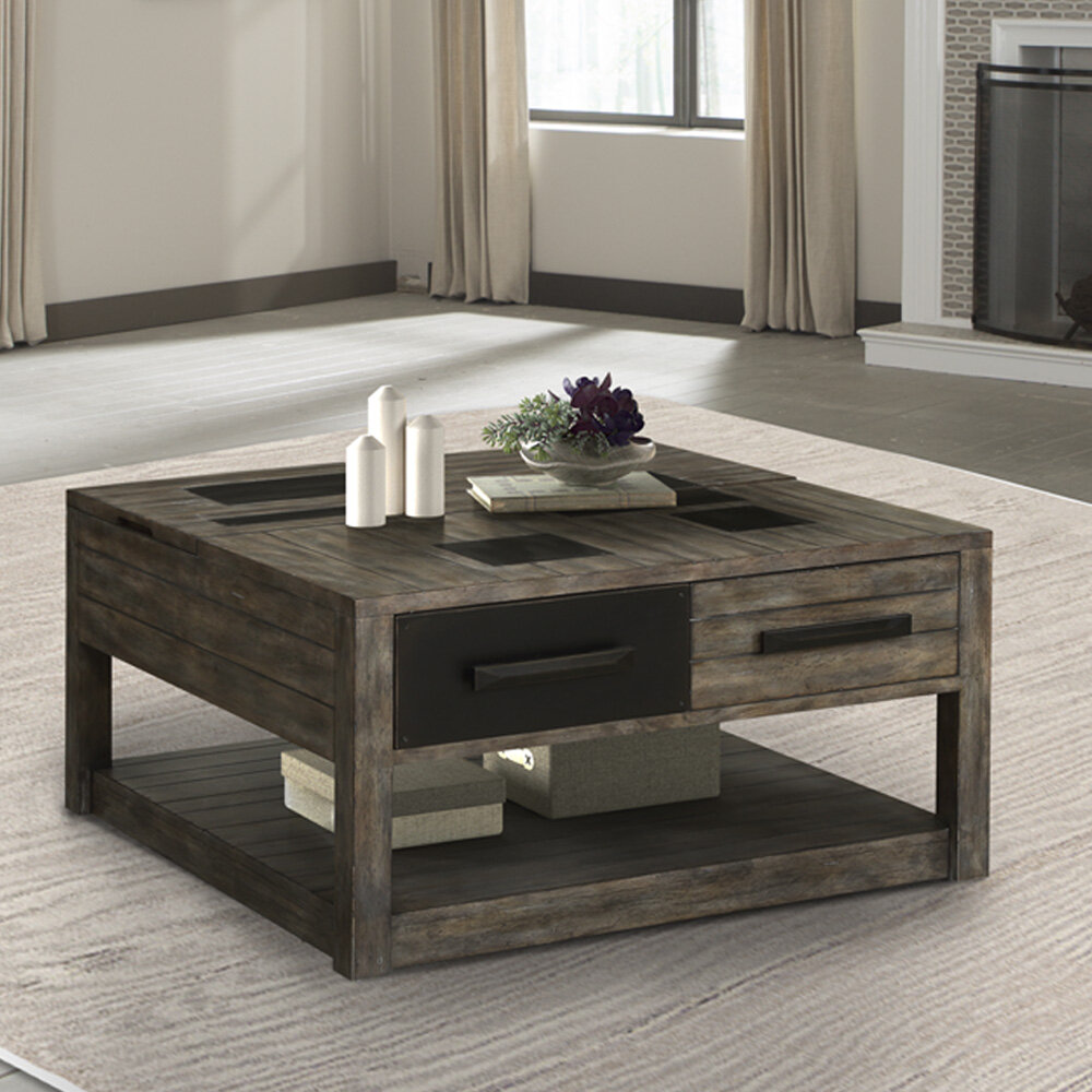 Foundry Select Jovanni Lift Top Floor Shelf Coffee Table With Storage Wayfair