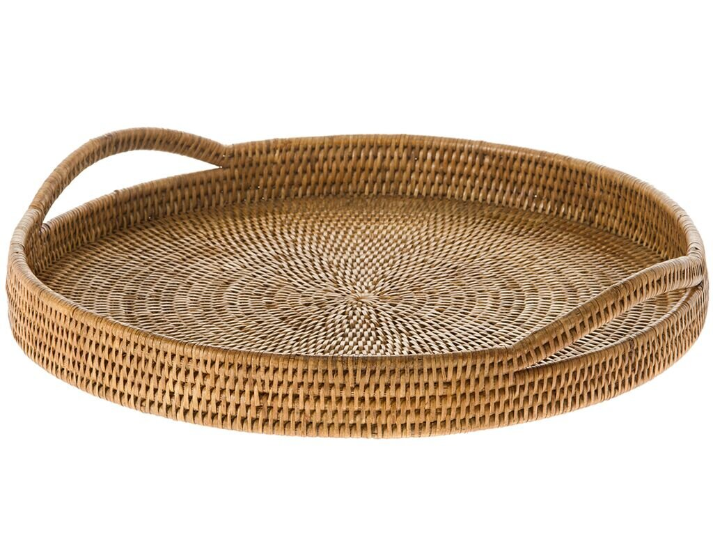 Global Inspired Rattan Wicker Decorative Trays You Ll Love In 2021 Wayfair