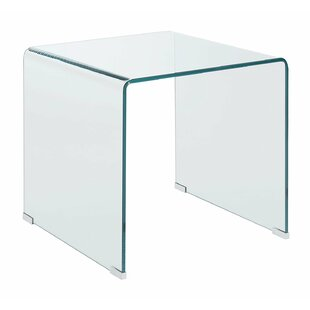 Palmhurst Contemporary Minimal Clear Glass End Table