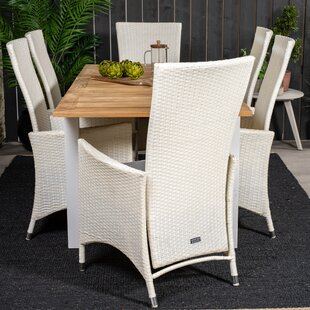 Navya 6 Seater Dining Set With Cushions By Sol 72 Outdoor