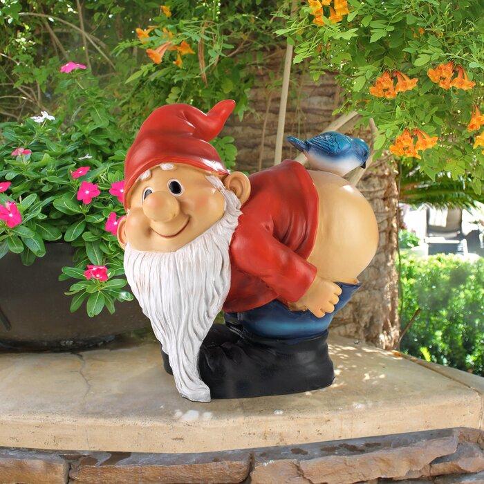 Statue de nain de jardin à fesses nues Loonie Moonie