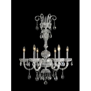Astoria Grand Carbajal 6-Light Candle Style Chandelier
