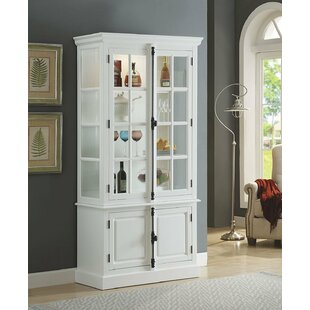 Faunce Wooden Lighted Curio Cabinet by Darby Home Co