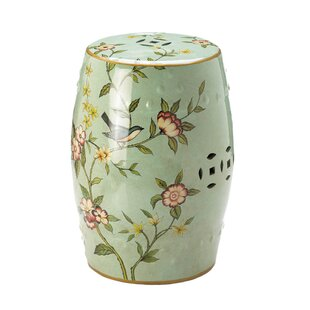 Bungalow Rose Palm Coast Floral Garden Stool