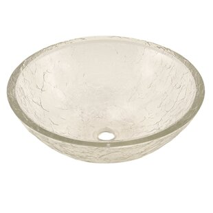 JSG Oceana Glass Circular Vessel Bathroom Sink