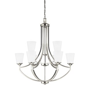 Darby Home Co Elkton 9-Light Shaded Chandelier