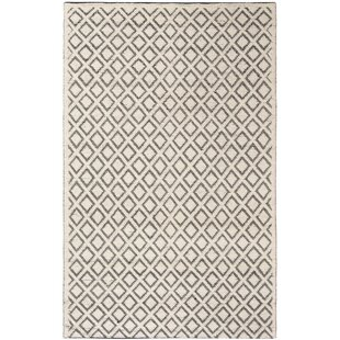 Where buy  Matamoros Hand-Woven Wool Ivory/Black Area Rug By Gracie Oaks