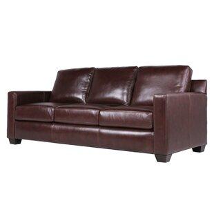 Buckhead Leather Sofa by Three Posts