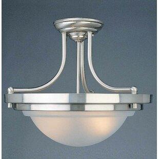 2-Light Bowl Pendant by Volume Lighting