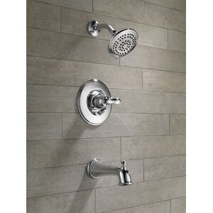 Linden Diverter Tub and Shower Faucet Trim with Lever Handles and Monitor