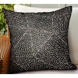 Calne Geometric Luxury Indoor/Outdoor Throw Pillow