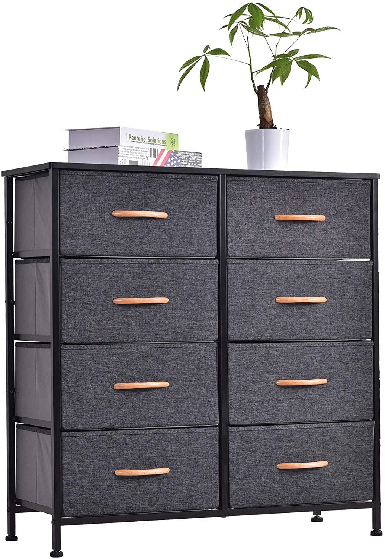 Rebrilliant Mcdonell Wide 8 Drawer Storage Chest Reviews Wayfair