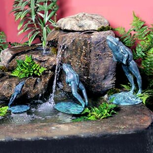 Brass Baron Frog Brass Crazy Frog Fountain