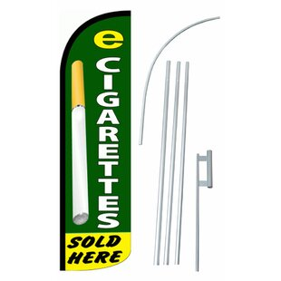 E-Cigarettes Sold Here Polyester 15' X 2'6 Flag Set by NeoPlex