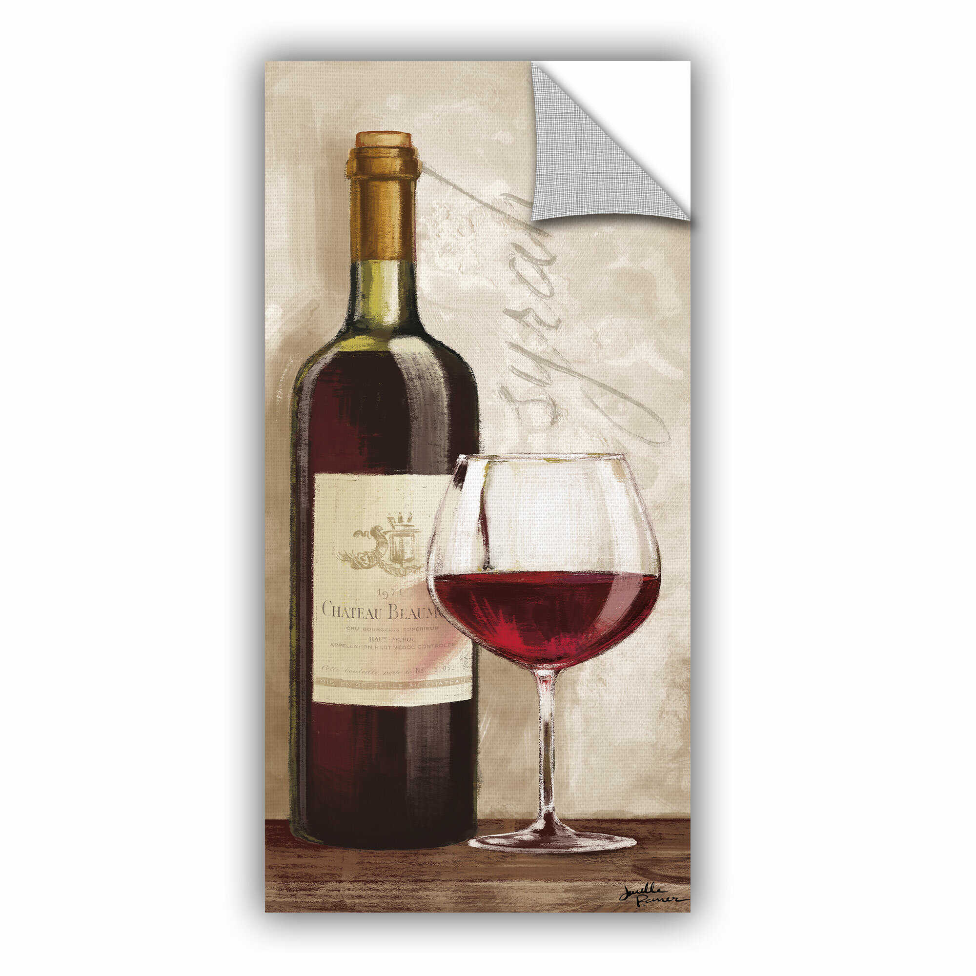 Winston Porter Cavallaro Wine In Paris Vi Removable Wall Decal Wayfair