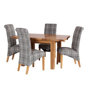 Up To 70% Off Maddison Extendable Dining Set With 4 Chairs