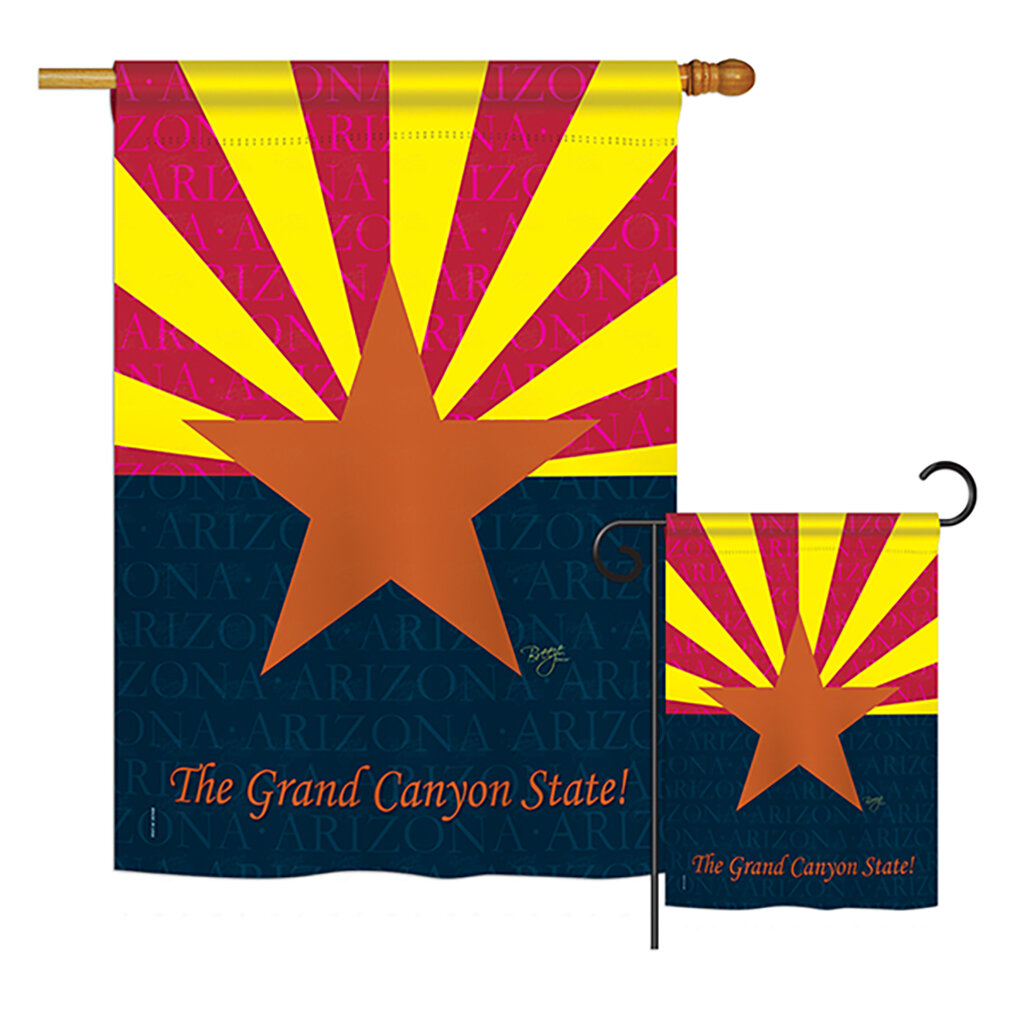 Breeze Decor Arizona American States Impressions Decorative Vertical 2 Sided Polyester 2 Piece Flag Set Wayfair