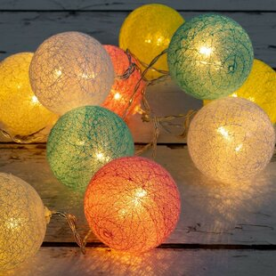 The Holiday Aisle Daphne 20 LED String Fairy Light with Ball and Beads