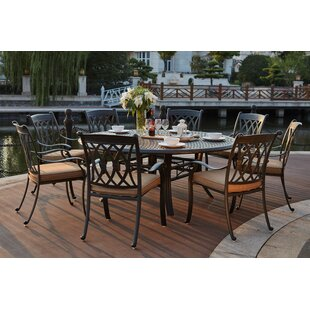 Astoria Grand Melchior 9 Piece Dining Set with Cushions