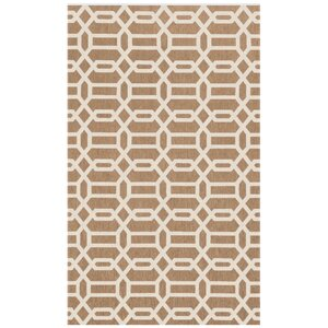 Hand Woven Tan Indoor/Outdoor Area Rug