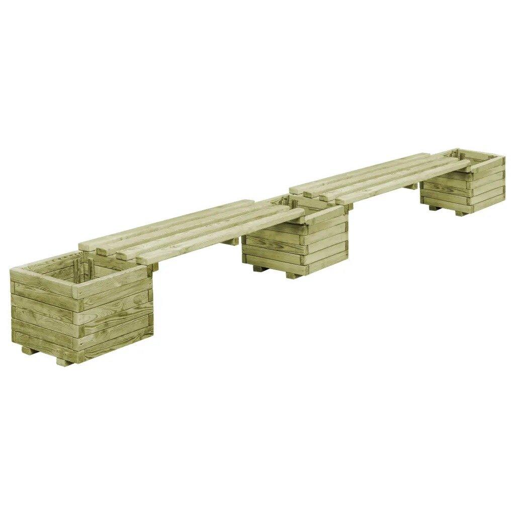 Rockingham Wooden Planter Bench