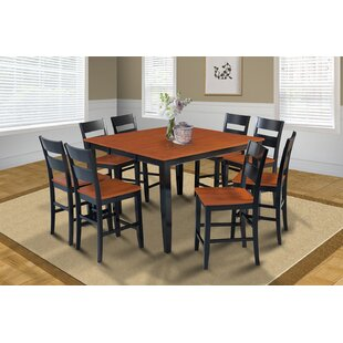 Charlestown 9 Piece Counter Height Solid Wood Dining Set