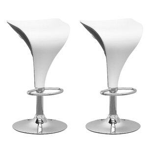 Deel Adjustable Height Swivel Bar Stool (Set of 2) by Orren Ellis