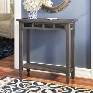 Review Glastonbury Slate Console Table By Charlton Home