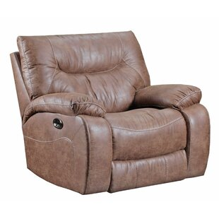 Simmons Upholstery Grizzly Hill Power Rocker Recliner by Loon Peak