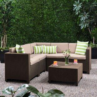 Dudek 5 Seater Rattan Corner Sofa Set Image