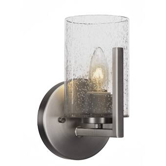 Williston Forge Malone 1 Light Dimmable Candle Wall Light Wayfair