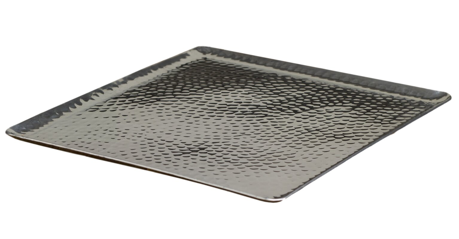 Square Hammered Serving Tray