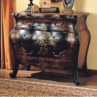 Urrutia Painted Floral Traditional Storage 3 Drawers Accent Chest by Astoria Grand