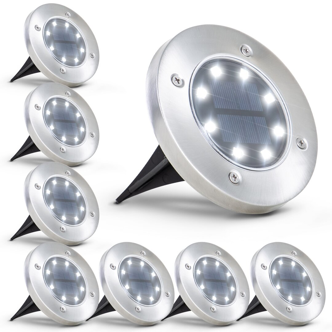 Dowitcher Metal Low Voltage Solar Powered Integrated LED Pathway Light Pack