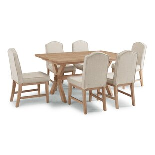 Romford 7 Piece Dining Set Three Posts