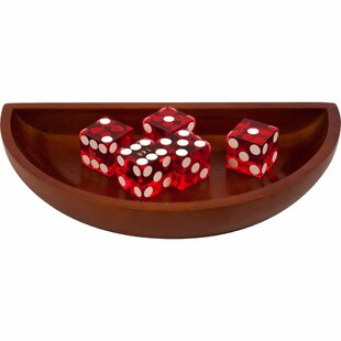 Craps Boat Dice (Set of 6) by Trademark Global