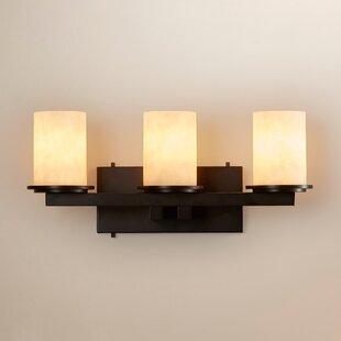 Latitude Run Heideman 3 Light Cylinder w/ Flat Rim Bath Vanity Light