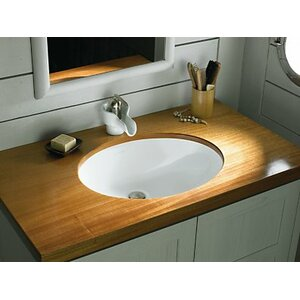 Compass Ceramic Circular Drop-In Bathroom Sink