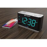 SmartSet Alarm Radio with Bluetooth Speaker Desktop Clock