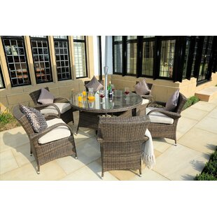 Rosecliff Heights Forbes 7 Piece Outdoor Dining Set With Cushions