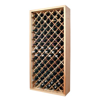 Wine Cellar Innovations Designer Series 90 Bottle Floor Wine Rack Finish: Classic Stained Premium Redwood