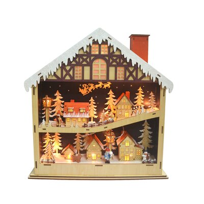 The Holiday Aisle Muller Wooden Village LED Figures