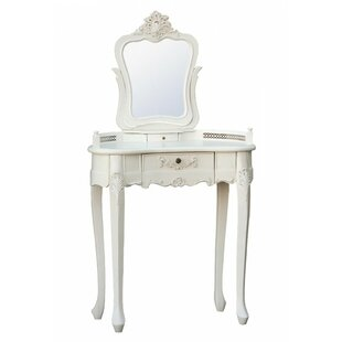 Endsley Dressing Table With Mirror By Fleur De Lis Living