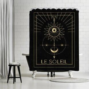 Compare prices Emanuela Carratoni Le Soleil Shower Curtain ByEast Urban Home