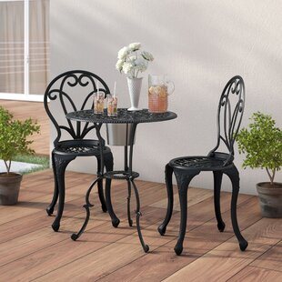 Astoria Grand Metcalfe 3 Piece Bistro Set With Ice Bucket